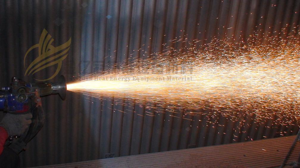 水冷壁防磨的热喷涂熔射工艺